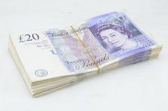 Zwanzig Pfund-Anmerkungen Stockbilder
