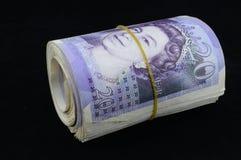 Zwanzig Pfund-Anmerkungen Stockfoto