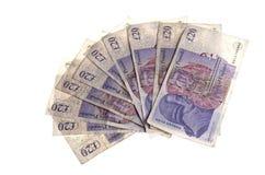 Zwanzig Pfund-Anmerkungen Lizenzfreie Stockfotografie