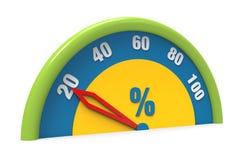 Zwanzig Prozent Lizenzfreie Stockfotos