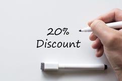 Zwanzig Prozent geschrieben auf whiteboard Stockfotos