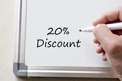 Zwanzig Prozent geschrieben auf whiteboard Stockfoto