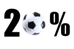 Zwanzig-Prozent-Rabatt Lizenzfreie Stockfotos