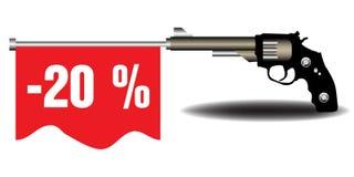 Zwanzig Prozent weg Lizenzfreie Stockfotografie