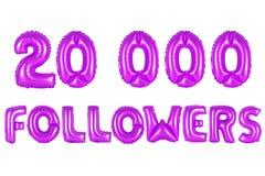 Zwanzig tausend Nachfolger, purpurrote Farbe Lizenzfreie Stockfotografie