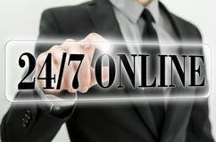 Zwanzig vier sieben on-line Lizenzfreie Stockfotografie