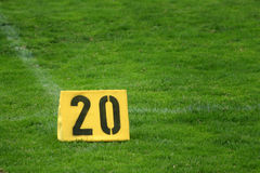 Zwanzig-Yard-Markierung Lizenzfreie Stockfotos