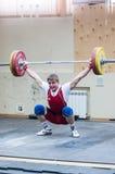 Zware atletiek, weightlifter. Royalty-vrije Stock Foto