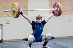Zware atletiek, weightlifter. Stock Fotografie