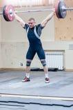 Zware atletiek, weightlifter. royalty-vrije stock foto's