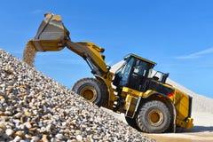Zware bouwmachine in bovengrondse mijnbouw - wiellader RT royalty-vrije stock afbeeldingen