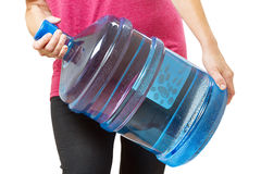 Zware grote fles water Stock Foto's