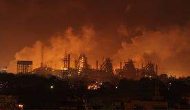 Zware industriële verontreiniging Stock Foto's