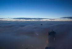 Zware mist boven de stad van Sydney Australia Royalty-vrije Stock Afbeelding