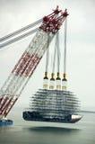 Zware opheffende drijvende kraan Royalty-vrije Stock Afbeelding