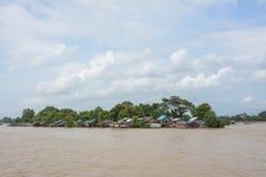 Zware overstroming in Mandalay, Myanmar Royalty-vrije Stock Afbeelding