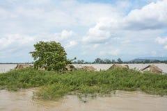 Zware overstroming in Mandalay, Myanmar Royalty-vrije Stock Foto's
