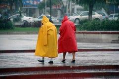 Zware regen Royalty-vrije Stock Foto's
