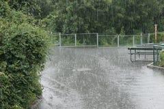 Zware regen Stock Afbeelding