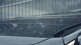 Zware Regen op een stormachtige dag stock footage