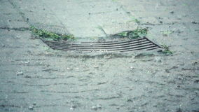 Zware Regen op een stormachtige dag stock video