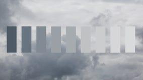 Zware regenwolken stock foto