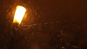 Zware Sneeuwnacht stock footage