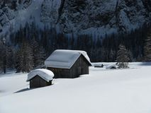 Zware sneeuwval Stock Foto's