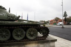 Zware tank t-80 Stock Foto's