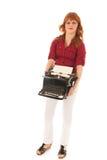 Zware uitstekende zwarte schrijfmachine royalty-vrije stock afbeeldingen