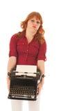 Zware uitstekende zwarte schrijfmachine royalty-vrije stock afbeelding
