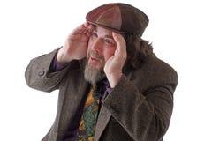 Zware vastgestelde mens die uit vastbesloten kijkt Royalty-vrije Stock Foto