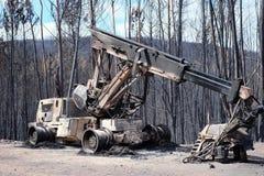 Zware vernietigde Machines Stock Foto