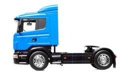 Zware vrachtwagen die over wit wordt geïsoleerdo Stock Foto
