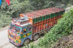 Zware Vrachtwagen Dragende Gasfles royalty-vrije stock foto