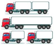 Zware vrachtwagen met ruimte voor tekst Royalty-vrije Stock Fotografie