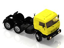 Zware vrachtwagen zonder een container Stock Foto
