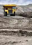 Zware Vrachtwagenmijnbouw Royalty-vrije Stock Afbeelding