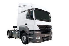 Zware witte geïsoleerdes vrachtwagen Royalty-vrije Stock Afbeeldingen