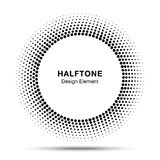 Zwart Abstract Cirkelkader Halftone Dots Logo Design Element voor medische behandeling, schoonheidsmiddel Royalty-vrije Stock Foto