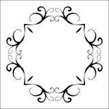 Zwart abstract decoratief kader in uitstekende stijl Royalty-vrije Stock Foto