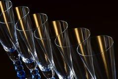 Zwart abstract glas Stock Fotografie