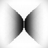 Zwart Abstract Halftone Ontwerpelement, vector Stock Fotografie