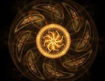 Zwart Abstract Halftone Ontwerpelement, vormillustratie Royalty-vrije Stock Fotografie