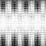 Zwart Abstract Halftone Vierkant Dot Background, vectorillustratie Stock Fotografie
