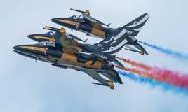 Zwart aerobatic de vertoningsteam van Eagles, Singapore Airshow 2016 Royalty-vrije Stock Fotografie