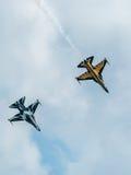 Zwart aerobatic de vertoningsteam van Eagles, Singapore Airshow 2016 Stock Afbeeldingen