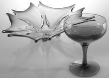 Zwart & wit glasstilleven Stock Foto's