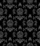 Zwart & wit naadloos behang Stock Fotografie