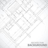 Zwart architectuurplan Royalty-vrije Stock Afbeelding